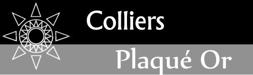 Colliers plaqué or